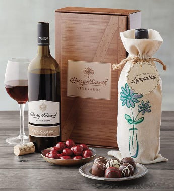 Sympathy Red Wine Gift Box SnipeImage