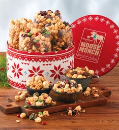 Holiday Moose Munch® Premium Popcorn Drum