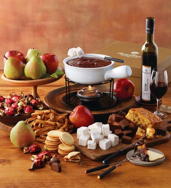 Chocolate Fondue with Wine