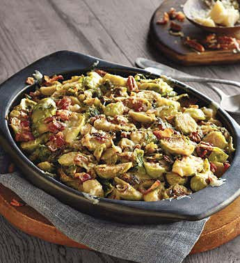 Creamy Brussels Sprouts with Bacon