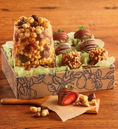 Moose Munch® Premium Popcorn and Dipped Strawberries