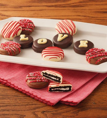 """LOVE"" Chocolate-Covered Cookies"