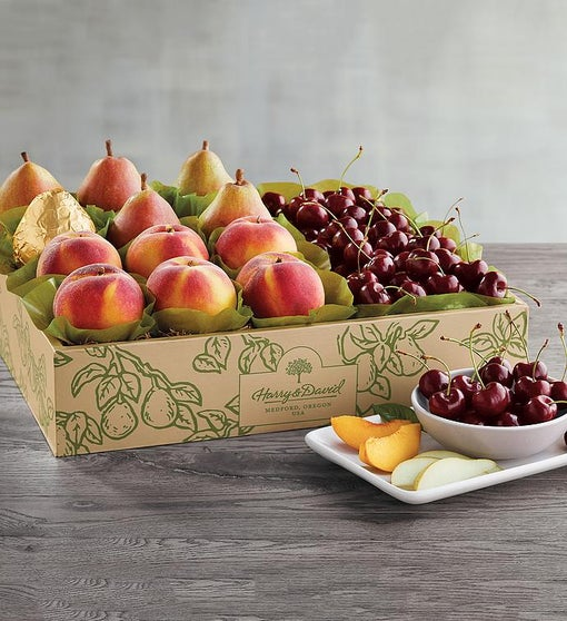 Royal Verano® Pears, Oregold® Peaches, and Plump-Sweet Cherries