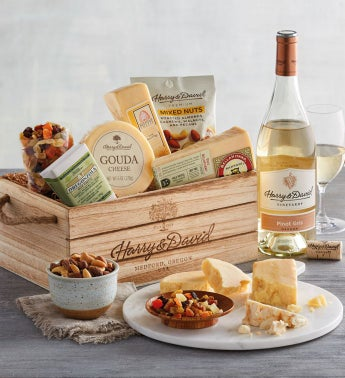 Gourmet Cheese Gift With Wine SnipeImage
