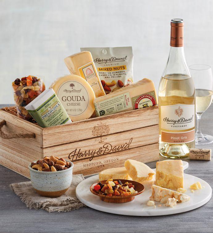 Gourmet Cheese Gift with Wine snipeImage & Wine Gift Baskets | Wine Baskets u0026 Wine Gift Sets | Harry u0026 David