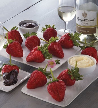 Strawberries Devonshire Cream and Harry  Davidtrade Moscato