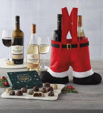 santa pants wine gift