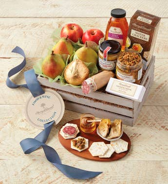 Food  Winetrade Fruit and Hors d39Oeuvres Gift Crate