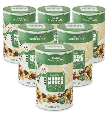 Moose Munch® Dark Chocolate Premium Popcorn – 10 oz 6 Pack