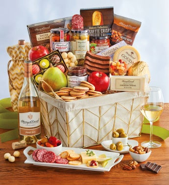 Deluxe Mother's Day Basket with Wine
