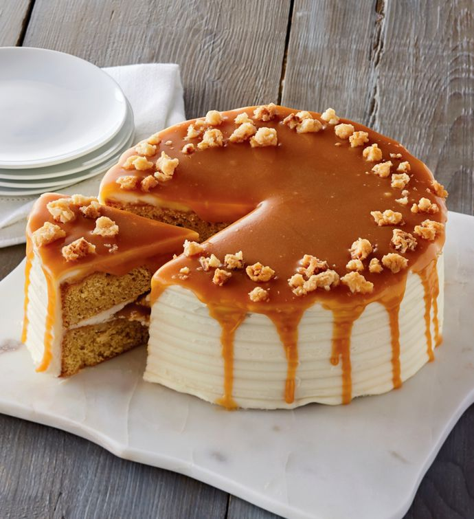 The Royal Touch™ Macadamia and Salted Caramel Cake