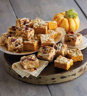 Pumpkin Cranberry Bliss Bars