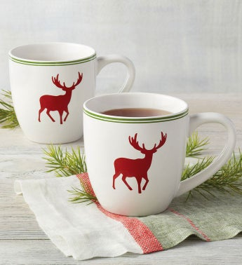 Traditional Holiday Mug Duo