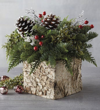 Holiday Birch Centerpiece