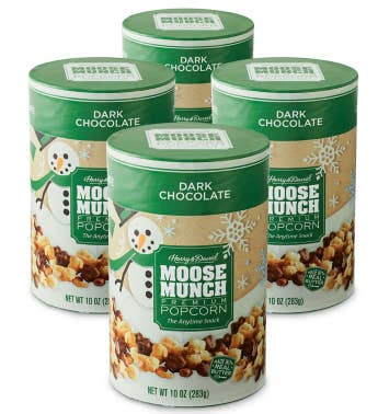 Moose Munch174 Holiday Premium Popcorn - Dark Chocolate - 4 Pack