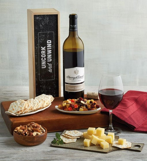 """Uncork and Unwind"" Wine Gift Box"