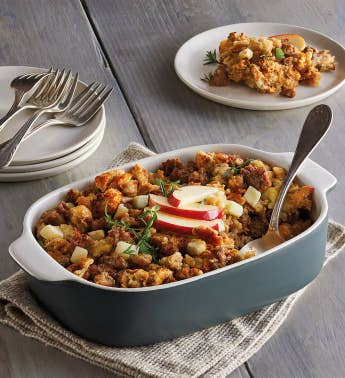 Apple Sausage Walnut Stuffing
