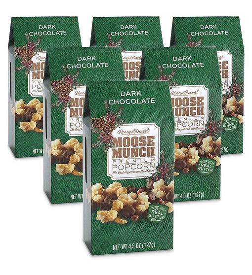 Moose Munch® Dark Chocolate Premium Popcorn – 4.5 oz 6 Pack