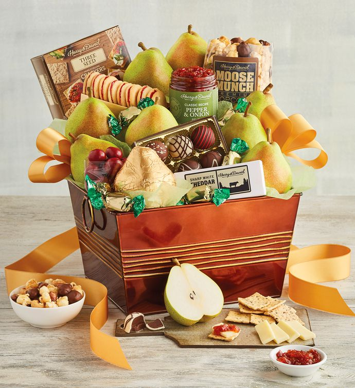 CD1188749 Gourmet Choice Gift Basket for Christmas and personalized card mailed seperately