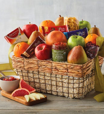 Deluxe Organic Fruit Gift Basket snipeImage