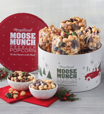 Moose Munch® Premium Popcorn Holiday Tin