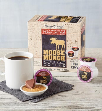 Moose Munch174 Milk Chocolate Peanut Butter Single-Serve Coffee