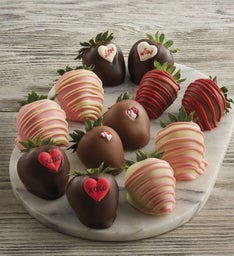 Valentine's Day Hand-Dipped Chocolate-Covered Strawberries - One Dozen