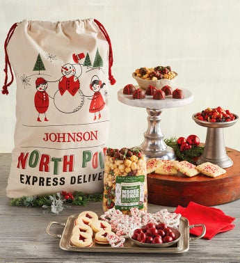 Personalized Santa39s Sack of Treats