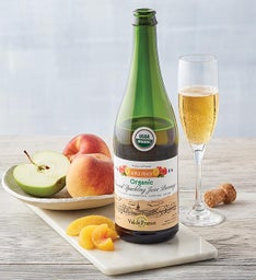 Organic Apple Peach Sparkling Juice