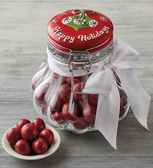 Happy Holidays Jar of Cherries