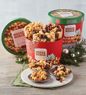 Moose Munch® Premium Popcorn Holiday Drum - 2 Pack