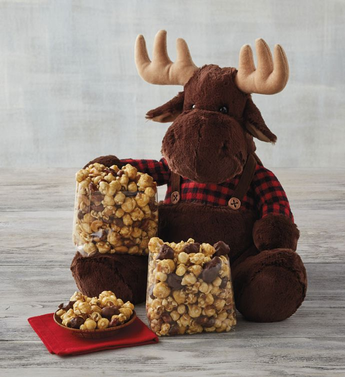 Moose Munch® Premium Popcorn and Plush Moose Gift
