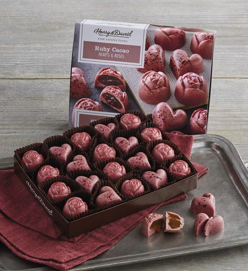 Ruby Cacao Hearts and Roses Confection Gift