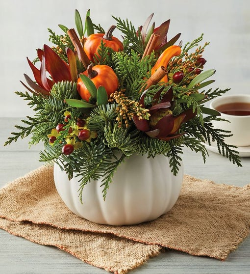 Harvest Pumpkin Centerpiece