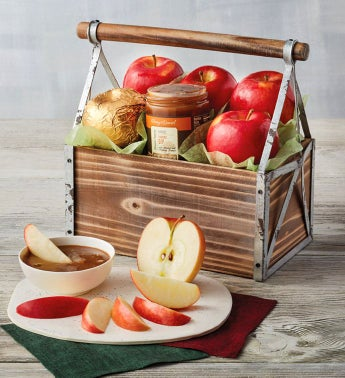 Apples and Caramel Gift Basket