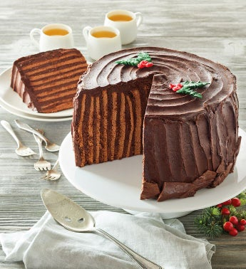 Chocolate Mocha Yule Log Cake
