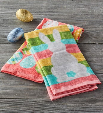 Bunnies and Eggs Kitchen Towel