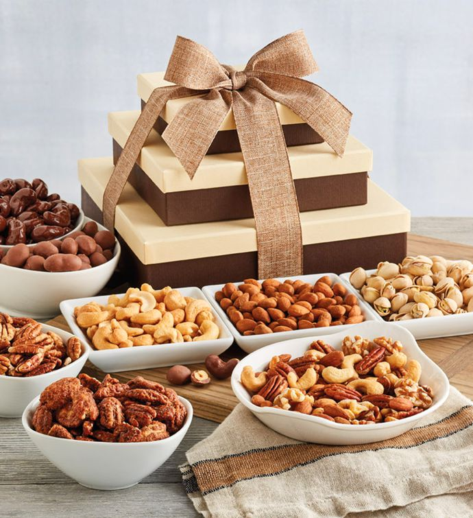 Premium Nut Gift Tower