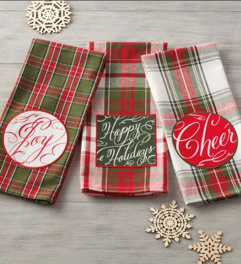 Holiday Embellished Towels