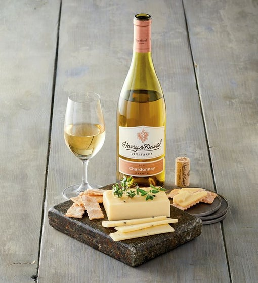 Wood River Creamery™ Black Truffle Cheese and Harry & David™ Chardonnay