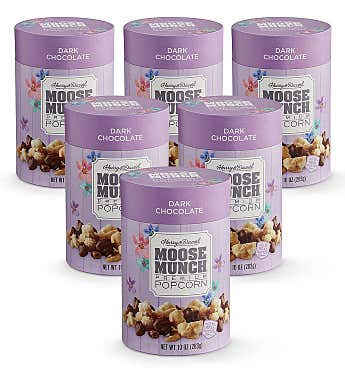 Moose Munch® Spring Dark Chocolate Premium Popcorn – 6 Pack