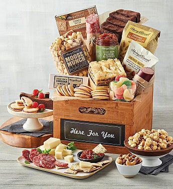 "Deluxe ""Here for You"" Gift Basket"