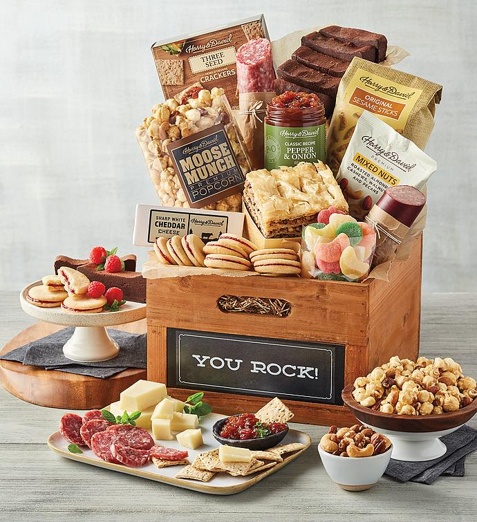 "Deluxe ""You Rock"" Gift Basket"