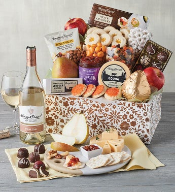 Mother39s Day Gift Basket with Wine