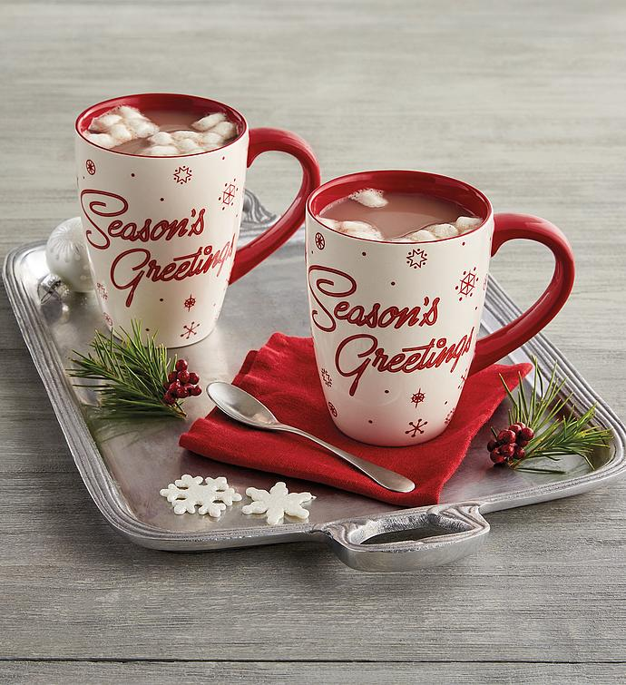 """Season's Greeting"" Mug Duo"