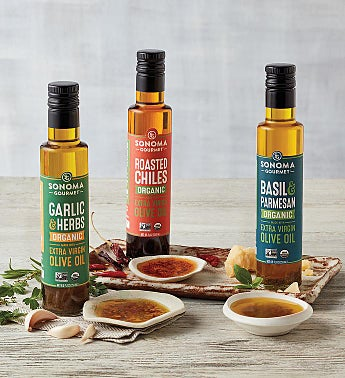 Organic Seasoned Extra Virgin Olive Oil Trio