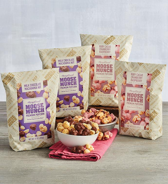 Moose Munch® Limited Edition Premium Popcorn – Ruby Cacao and Chocolate Macadamia Nut Duo