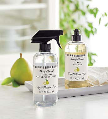 Royal Riviera™ Pear Scented Kitchen Cleaner and Dish Soap Set