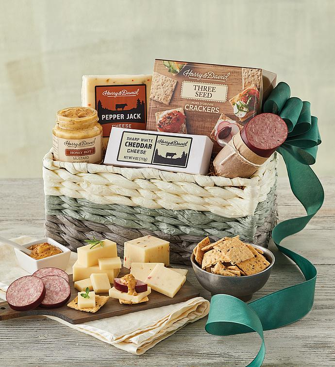 Gourmet Choice Gift Basket for Christmas and personalized card mailed seperately CD3241411