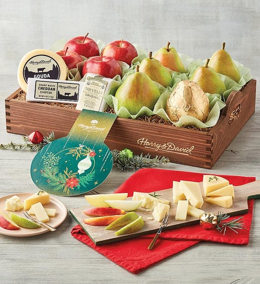 Holiday Apples, Pears, and Cheese Gift